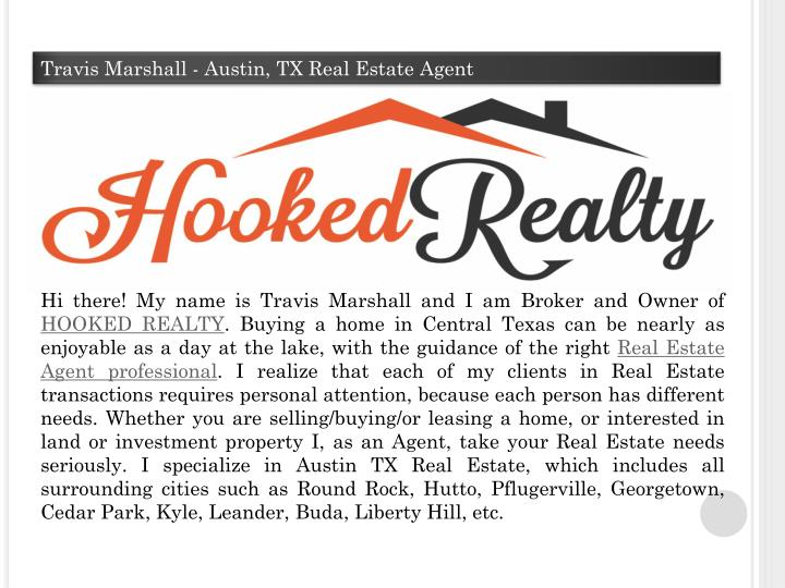 Travis Marshall - Austin, TX Real Estate Agent