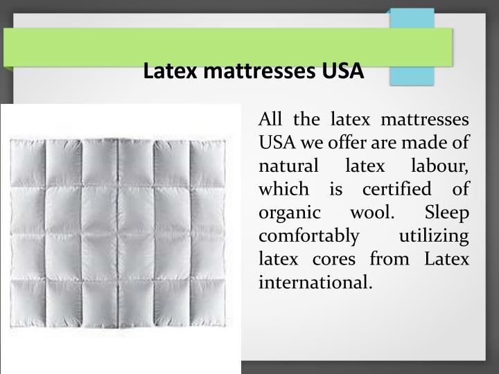 Latex mattresses USA