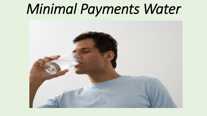 Minimal Payments