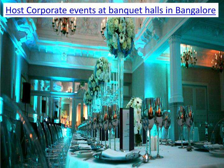 Host Corporate events at banquet halls in