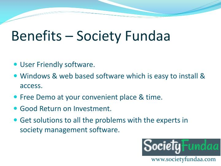 Benefits – Society Fundaa