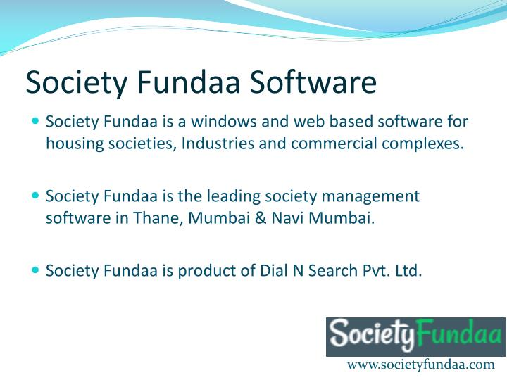 Society fundaa software