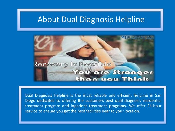 About Dual Diagnosis Helpline