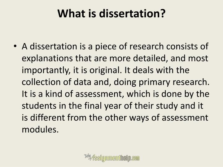 What is dissertation