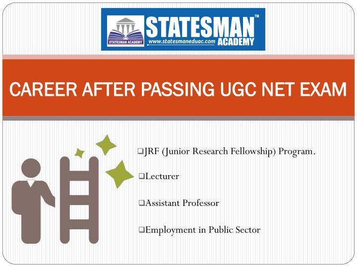 CAREER AFTER PASSING UGC NET EXAM