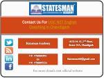 contact us for ugc net english coaching in chandigarh