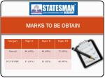marks to be obtain