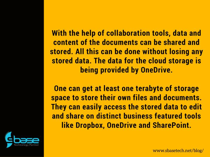 With the help of collaboration tools, data and