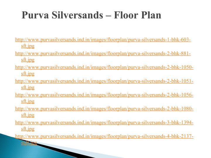 Purva Silversands – Floor Plan