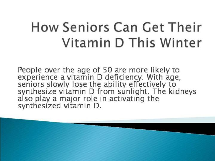 How seniors can get their vitamin d this winter