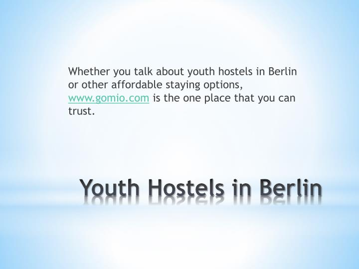 Youth hostels in berlin1