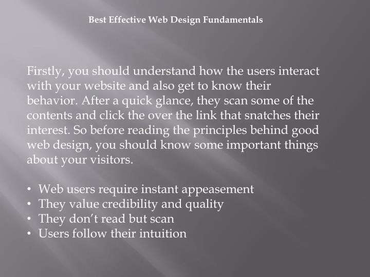 Best Effective Web Design Fundamentals