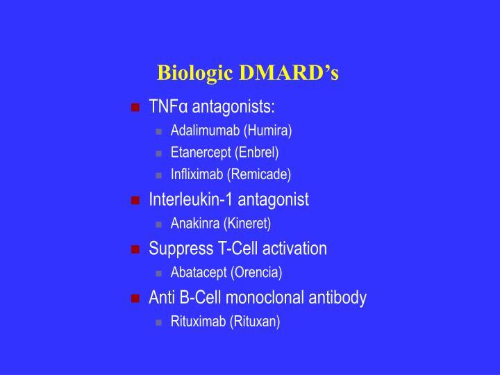 Biologic DMARD's