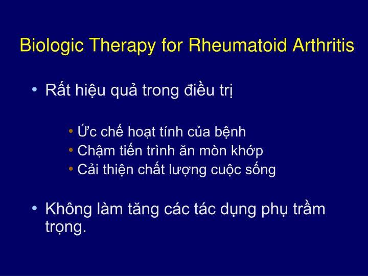 Biologic Therapy for Rheumatoid Arthritis