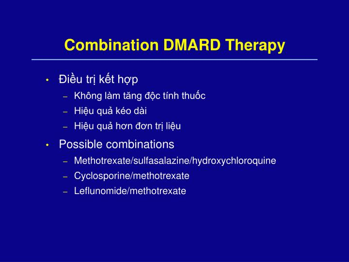 Combination DMARD Therapy