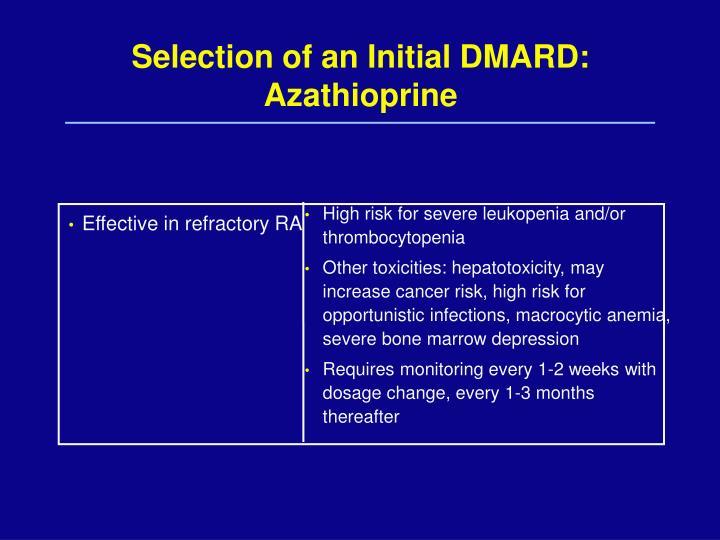 Selection of an Initial DMARD: Azathioprine