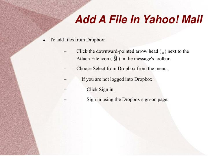 Add A File In Yahoo! Mail