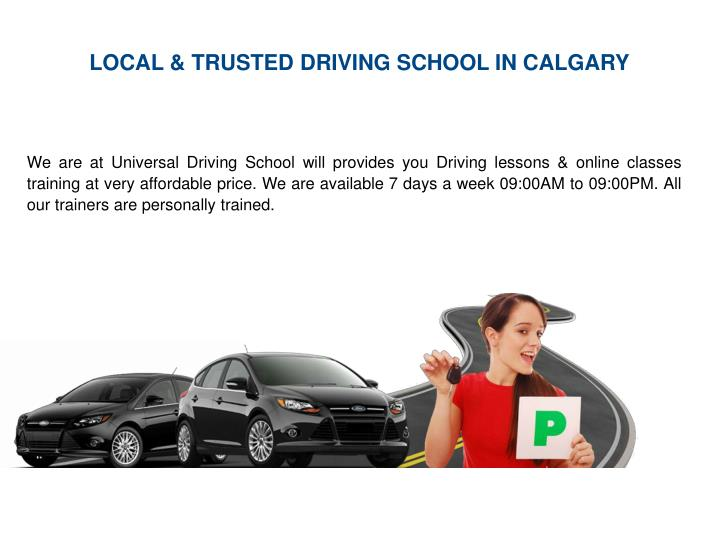 LOCAL & TRUSTED DRIVING SCHOOL IN CALGARY