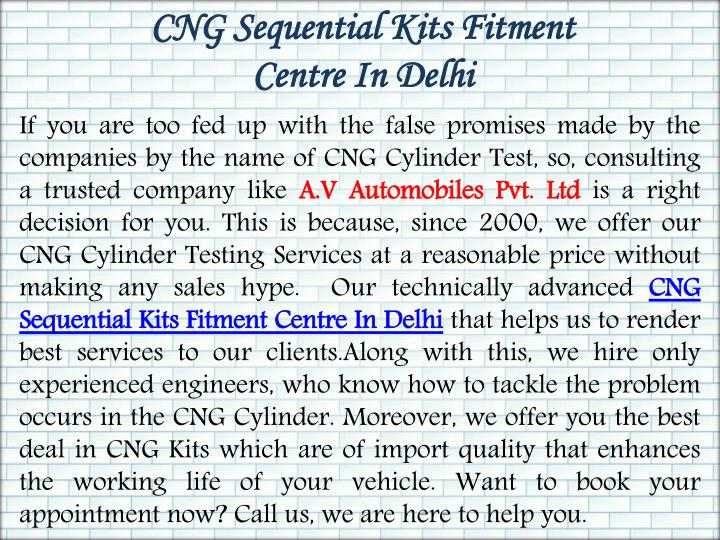 CNG Sequential Kits Fitment