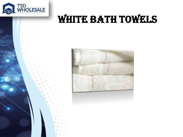 White Bath Towels