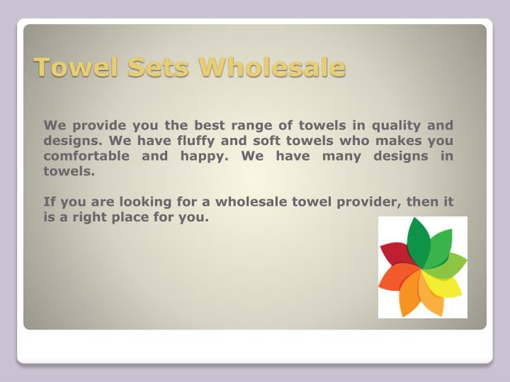 Towel sets wholesale