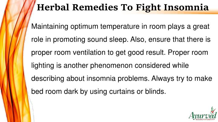 Herbal Remedies To Fight Insomnia