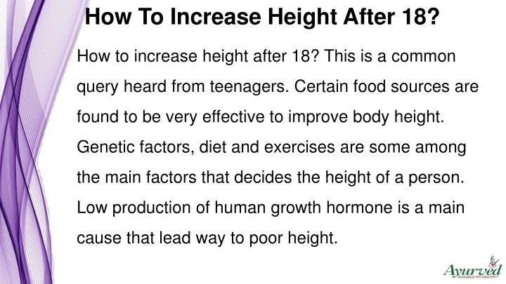 How To Increase Height After 18?
