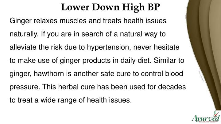 Lower Down High BP