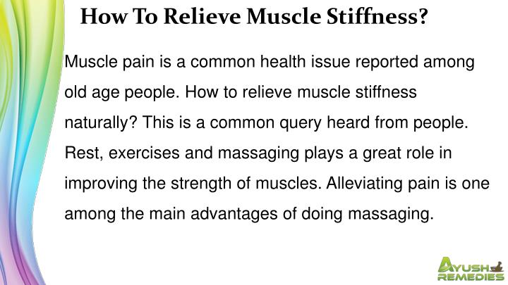 How To Relieve Muscle