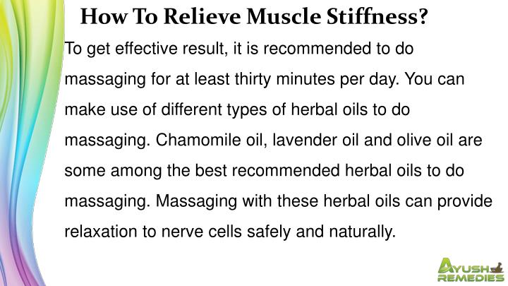 How To Relieve Muscle Stiffness?