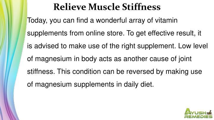 Relieve Muscle Stiffness
