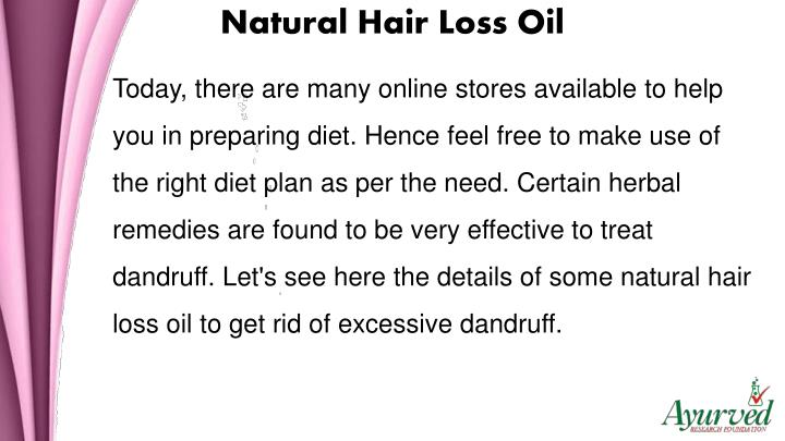 Natural Hair Loss Oil