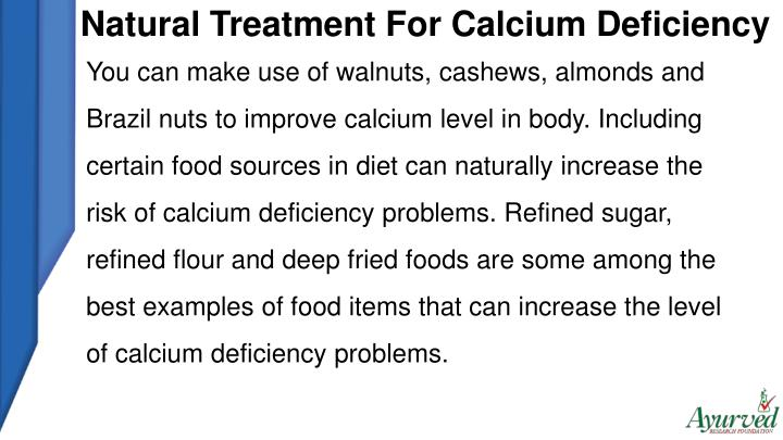 Natural Treatment For Calcium Deficiency