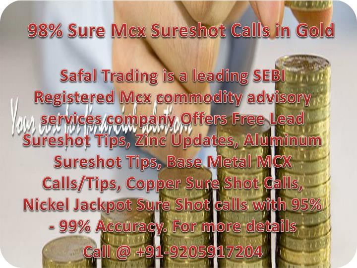 98% Sure Mcx Sureshot Calls in Gold