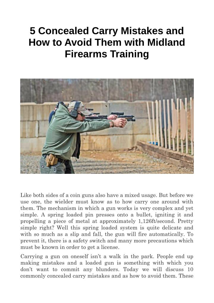 5 Concealed Carry Mistakes and