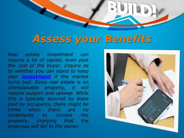 Assess your Benefits