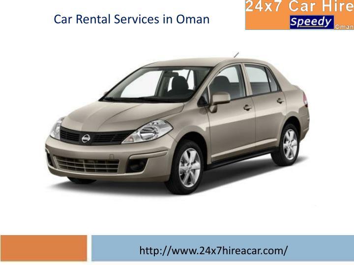 Car Rental Services in Oman
