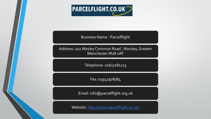 Business Name : Parcelflight