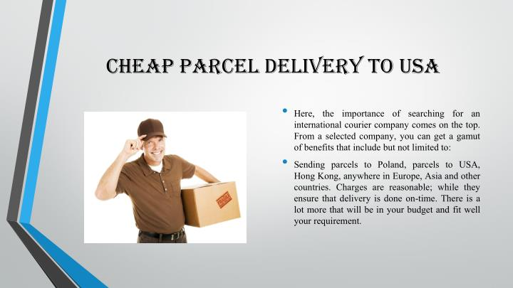 cheap parcel delivery to usa