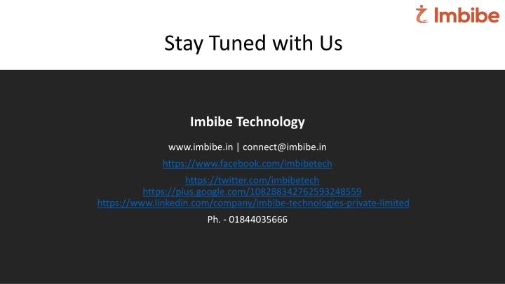 Stay Tuned with Us