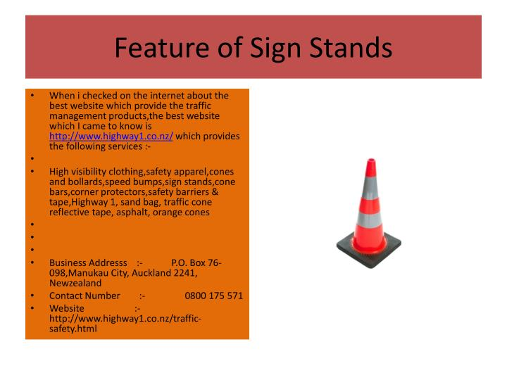 Feature of Sign Stands