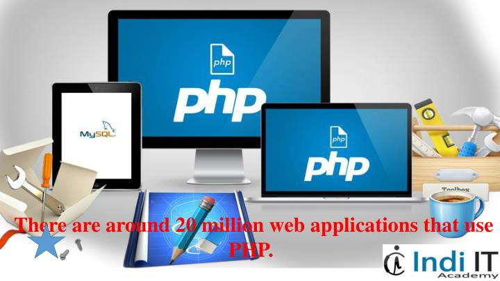 There are around 20 million web applications that use PHP.