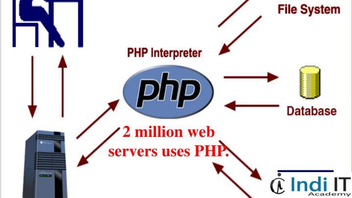 2 million web servers uses PHP.