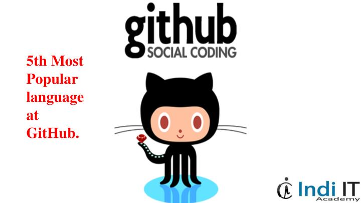 5th Most Popular language at GitHub.