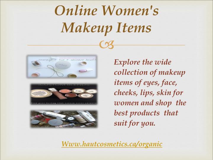 Online Women's