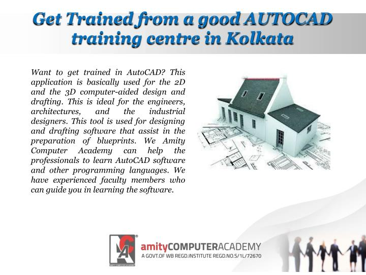 Get Trained from a good AUTOCAD training centre in Kolkata