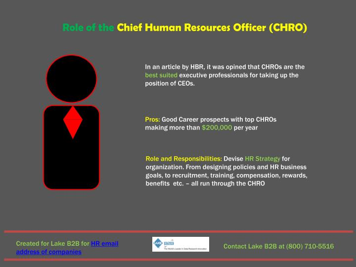 Role of the Chief Human Resources Officer (CHRO)