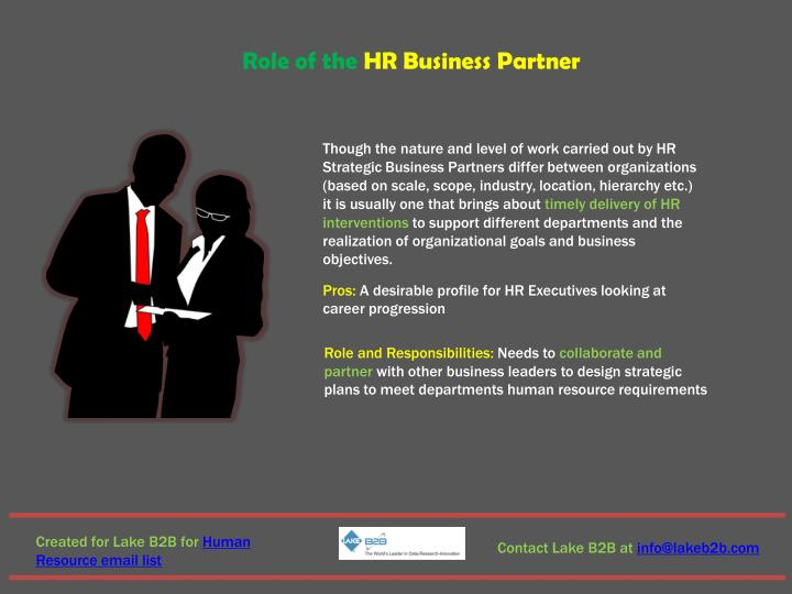Role of the HR Business Partner