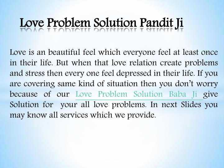 love problem solution pandit ji