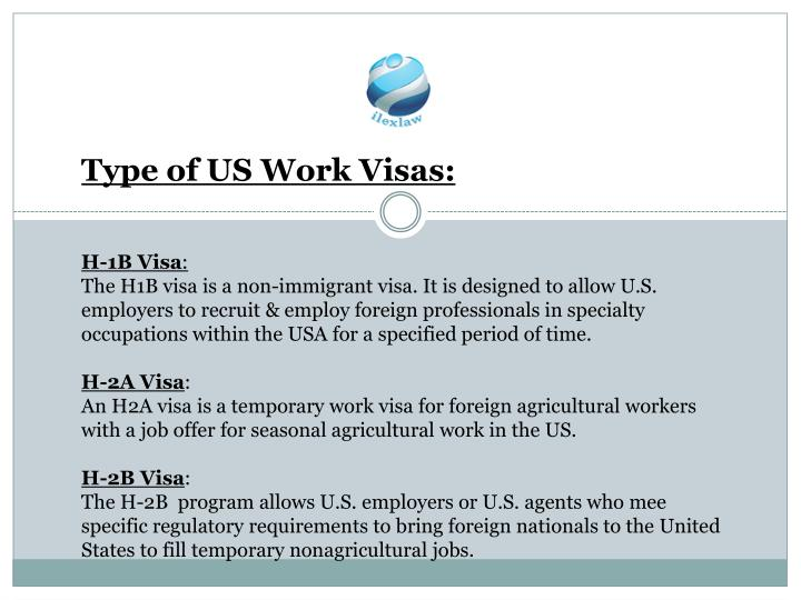 Type of US Work Visas: